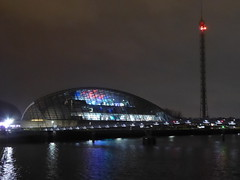 Glasgow Science Centre at night (luckypenguin) Tags: scotland glasgow riverclyde night nightphotography sciencecentre