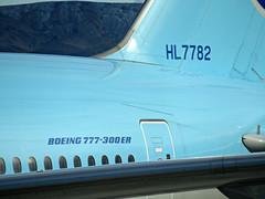 KE 777-3B5/ER HL7782 (kenjet) Tags: las vegas lasvegas klas nevada mccarran ke korean koreanair boeing tripleseven 77w 777 7773b5er 777300er hl7782 blue plane jet flugzeug aviation airline airliner registration
