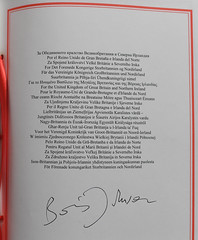 Prime Minister Boris Johnson signs the Withdrawal Agreement with the European Union (UK Prime Minister) Tags: politics boris johnson no10 office downingstreet number10 pm primeminister europeanunionwithdrawalagreement eu signing brexit act 2020 london unitedkingdom