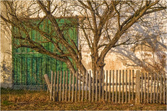Happy Fenced Friday! (Janos Kertesz) Tags: village fence rural door house architecture building home old country exterior tree wood nature traditional