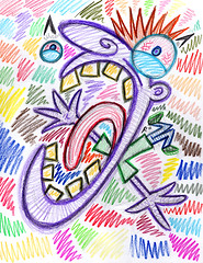 Color Scare (Rayce Rapoza) Tags: art illustration pattern graffiti paper design visualarts drawing doodle graphics color sketch creativity coloredpencil pencil cartoons cartoonart experimental mixedmedia traditional texture innovation creative exaggeration appeal composition wacky loony expressive stylized abstract animation animated colorful spontaneity surreal fineart pervasiveart popart lowbrowart scared screaming yelling frightened scare afraid yelp scribbles scribble picaso