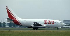 B737 | F-GHXK | AMS | 19900620 (Wally.H) Tags: boeing 737 boeing737 b737 fghxk eas europeaeroservice ams eham amsterdam schiphol airport