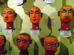 five rednecks from kochi (kexi) Tags: kochi cochin kerala india asia old ancient art folkloremuseum 5 five red heads rednecks samsung wb690 february 2017 scary eyes text instantfave