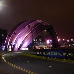 SEC Armadillo, Glasgow, at night (luckypenguin) Tags: scotland glasgow riverclyde night nightphotography sec secc armadillo