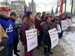 United Nurses of Alberta Rally (livingsanctuary) Tags: una yeg edmonton ableg alberta nurses rally protest yegphotographer streetphotography politicalphotography politics unitednursesofalberta