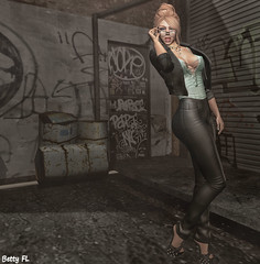 New styling 606 (bettyfl) Tags: betty bettyfl summer night plazza piata square chilly boots legs girl skin fashionista fashionlover fashion model modeling poser pose posing femme milf woman beauty sexy sensual elegant chic opensim hypergrid os hg