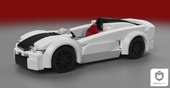 Lumenairo 728 Tempesta Speedster (shizik27) Tags: car lego mecabricks minifigure auto bricks render ldd 6wide moc creation supercar sportcar vehicle speed hypercar speedster roadster cabriolet spyder