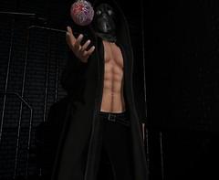 The Force (MaximusBird) Tags: force sadist hood mask coat bento ball floating darkness gloomed gloomy darkside dark underground