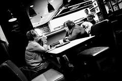 Conversations Over Coffee (Chris Goodacre) Tags: street blackandwhite monochrome chrisg35mm android motorolamotog4 mobilephonecamera androidblackcamapp
