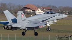 Swiss Air Force F/A-18C Hornet (Caspar Smit) Tags: swiss f18 fa18 hornet payerne lsmp wef wef2020 worldeconomicforum aircraft fighter jet aviation airforce fliegerstaffel nikon d7000 j5002