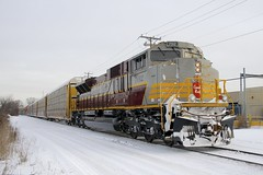 CP 7012 (Michael Berry Railfan) Tags: cp7012 cp canadianpacific lachine montreal quebec winter snow emd gmd cp112 sd70acu lachineindustrialspur dpu
