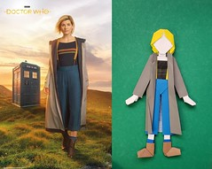The Doctor (calebspeaks) Tags: origami paper dolls paperdoll doctor who bbc tardis