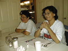 lrf_AgathaNakogee_ElaineHughie_AGMOct2_2001 (Paul Lantz) Tags: 2001 agathanakogee agm annual elainehughie general keewaytinok legal meeting native services skyranch