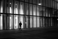 Running through the night (pascalcolin1) Tags: paris13 homme man runner coureur nuit night lumière light fenetres windows photoderue streetview urbanarte noiretblanc blackandwhite photopascalcolin 50mm canon50mm canon