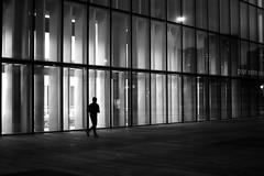 Running through the night (pascalcolin1) Tags: paris13 homme man runner coureur nuit night lumière light fenetres windows photoderue streetview urbanarte noiretblanc blackandwhite photopascalcolin 50mm canon50mm canon