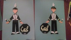 University of California marching band uniforms (calebspeaks) Tags: origami paperdoll cal university california drummer band