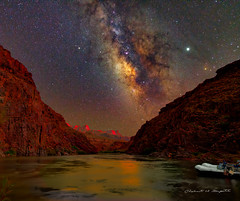 GRAND CANYON SUNSET (Bob Fugate) Tags: grand canyon milky way sunset landscape colorado river