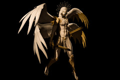 Sin Eater (Andariel Lycomedes) Tags: sineater bellezajake catwadaniel divine holy light shadow blackscreen gold warrior angel halo wings sword armor porcelain celestial loincloth murderofravens ghoul stealthic antinatural silence metal pfc noche