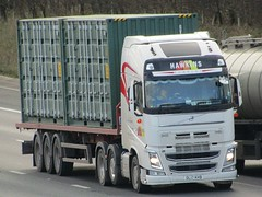 Hawkins Logistics, Volvo FH (DL17KHB) On The A1M Northbound (Gary Chatterton 8 million Views) Tags: hawkinslogistics volvotrucks volvofh dl17khb trucking wagon lorry haulage distribution logistics transport motorway flickr canonpowershotsx430 photography
