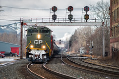 The Quality of MANS (Carlos Ferran) Tags: cp canadian pacific ns norfolk southern emd sd70acu 6644 dday world war 2 heritage train trains e mans mansfield fort wayne line signal signals prr pennsylvania pl
