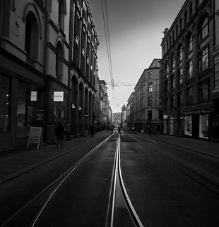 Tracks for city tram