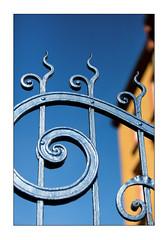 fence snail (Armin Fuchs) Tags: arminfuchs lavillelaplusdangereuse würzburg zellerau fence hff blue yellow house