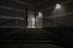 Death's Door (georgehuthart) Tags: nightphoto canonshot canonimage canonlenseos5d doors steps dark darkness