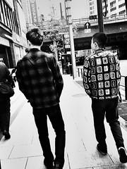 the same pose,the different pattern (sugar-leg) Tags: street portrait people man monochrome friend radical bnw life black mono