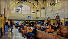 Santa Fe Depot, San Diego (-Brian Blair-) Tags: ddg depot rail station railroad train interior building chandelier bench people arch