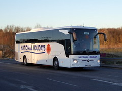Photo of NH18 RGH - Mercedes-Benz Tourismo M/2 - National Holidays - Milton Keynes Coachway 19Jan20