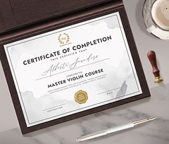 Certificate of Completion (19) (designassistant) Tags: diplomas diplomasandcertificates employee event formalcertificates freephotoshopcertificates gold graduation office performance performer professionalcertificates certificatedesign achievement appraisal award awards business certificates certificate certifications corporate corporatecertificates diploma psdcertificates retire rewards royal salary success white medical medicalcertificate resumedesign modern creativecertificate uniquecertificate