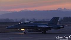 E A R L Y  M O R N I N G (Caspar Smit) Tags: swiss f18 fa18 hornet j5238 fliegerstaffel payerne lsmp aircraft fighter jet aviation airforce nikon d7000 worldeconomicforum wef sunrise