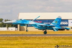 "Sukhoi Su-27P Flanker - Повітряні Сили України ""Ukrainian Air Force"" (Aimeric D. Photographies) Tags: avion plane spotter airshow meeting riat fairford"