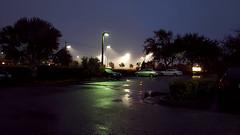 Ball Game in the Rain (Hawk 1966) Tags: florida brevard melbourne night school game field lights rain storm ballfield mist samsung galaxy s9 cellphone