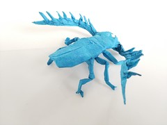 Origami Cyriopalus Wallacei (Nguyen Hung Cuong) (wormycompany) Tags: origami origamianimal origamicomplex insect origamiinsect beetle origamibeetle
