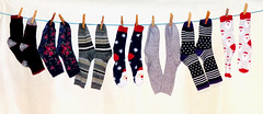 Sock it to me... (sharon'soutlook) Tags: socks clothesline colors colorful textures different patterns