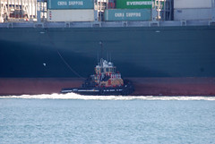 Liberty (jelpics) Tags: cargoship commercialship containership conleyterminal everlenient merchantship liberty tug tugboats boat bos boston bostonharbor bostonma harbor massachusetts massport ocean port sea ship vessel