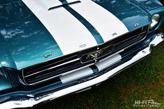 the white stripes (Hi-Fi Fotos) Tags: ford mustang vintage pony hood stripe chrome grille horse badge scoop american classiccar 1965 60s retro nikon d7200 dx hififotos hallewell
