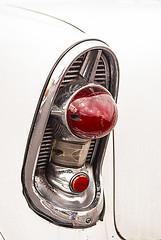 1956 Chevrolet Tail Light 01 (jolynne_martinez) Tags: taillight classiccar car auto automobile red white chrome detail cuba cuban cubanisms nikkor nikon nikond60 photoshop