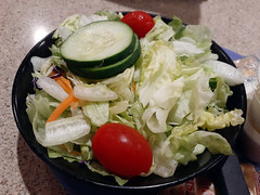 Side Salad. (dccradio) Tags: lumberton nc northcarolina robesoncounty indoor inside indoors cucumber cucumberslice tomato cherrytomatoes tomatoes cherrytomato lettuce iceberglettuce carrots salad tossedsalad gardensalad sidesalad saladbowl pier41 january friday fridaynight evening fridayevening goodsamsung galaxy sma205u a20 cellphone cellphonepicture photooftheday photo365 project365
