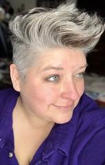 Day 345 of Year 10- My giant head again (Pahz) Tags: grayhair 365days selfportrait greyhair year10 crone over40 pixiecut thisis50