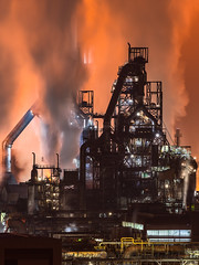 Port Talbot steelworks at night (Jamie W-Wright photography) Tags: port talbot steelworks porttalbot steel works industry south wales southwales