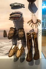 Beautifully Made (Jocey K) Tags: artifacts tripukeroupe2019 june uk scotland thehunterianmuseum universityofglasgow boots shoes fish necklace exhibit interior