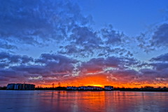 Frozen sunset (Steenjep) Tags: vinter winter hdr sø lake fuglsang fuglsangsø ice is frost frosen reflex refleks sol sun sunset solnedgang