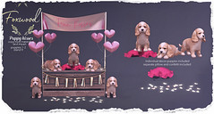Foxwood - Puppy kisses @ Uber (Dani @ Foxwood/Alchemy/Birdy/Foxes) Tags: screenshot sl secondlife foxwood puppy kisses uber sweet valentines mesh home decor pup hearts