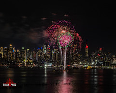 2020 Chinese Lunar New Years Fireworks (30 of 43) (bkrieger02) Tags: fireworks fireworksphotography nightphotography longexposure chinesenewyear happynewyear lunarnewyear yearoftherat rat hudsonriver nyc newyorkcity manhattan skyline esb empirestatebuilding hamiltonpark weehawken nj newjersey grucci gruccifireworks teamcanon canonusa shotoncanon 7dmkii sigma sigmaphoto sigmaart artlens 24105 colors colorful reflection red