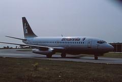 Boeing 737 (Pentakrom) Tags: luton airport boeing 737 gbazi sir walter raleigh britannia airways