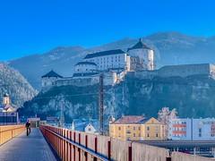 Kufstein Fortress in Tyrol, Austria (UweBKK (α 77 on )) Tags: österreich kufstein tyrol tirol austria europe europa iphone fortress city mountain