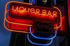 Liquor Bar (GmanViz) Tags: gmanviz color sign columbus ohio sonya6000 neon light lettering type shortnorth