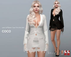COCO New Release @Uber January 25th (cocoro Lemon) Tags: coco newrelease blazer lace mini skirt mesh secondlife fashion maitreya belleza slink legacy